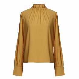 Emily Lovelock - High Neck Georgette Top Yellow