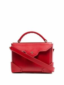 Manu Atelier red Bold micro leather cross body bag