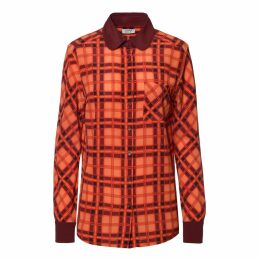 SOMERVILLE. - Hero Silk Shirt In Red Plaid or Check
