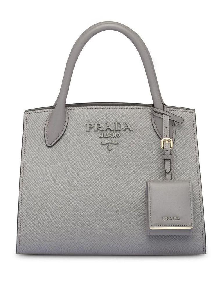 Prada Monochrome Saffiano leather bag - Grey
