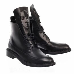 Emily Lovelock - Gold Polka Jacquard Skirt