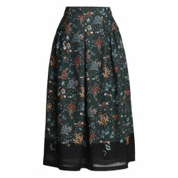 Emily Lovelock - Floral Pleated Skirt