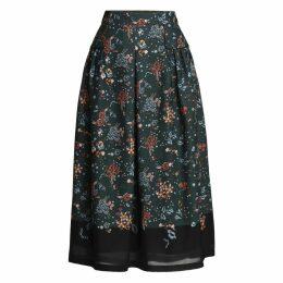 Emily Lovelock - Floral Pleated Skirt