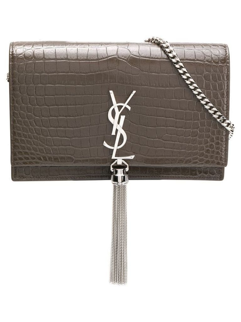 Saint Laurent Kate tassel embossed bag - Brown