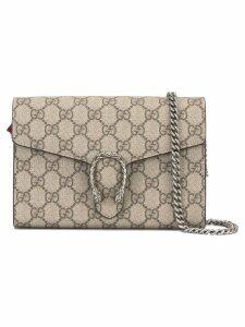 Gucci logo print crossbody bag - Neutrals