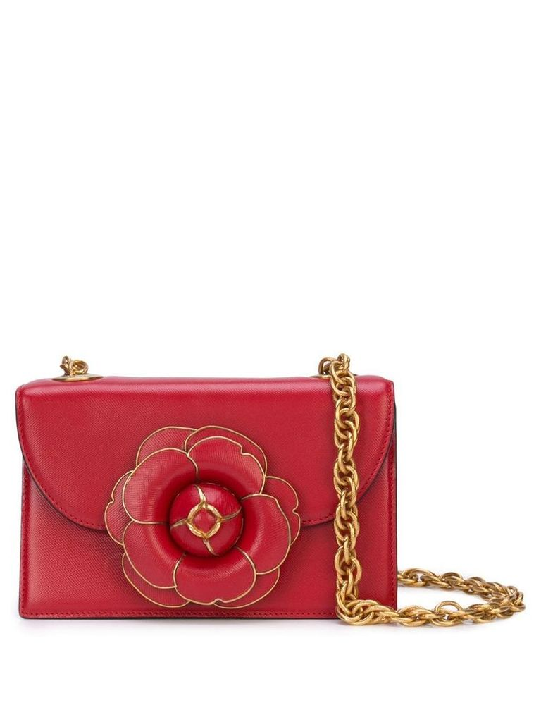 Oscar de la Renta Tro single compartment crossbody bag - Red