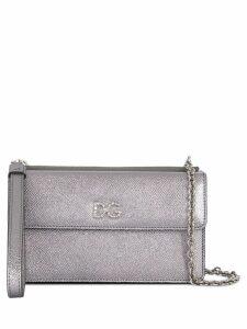 Dolce & Gabbana crystal embellished DG crossbody bag - Silver