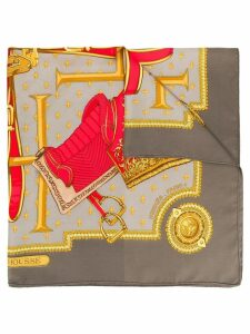 Hermès Pre-Owned Selles a Housses scarf - Grey