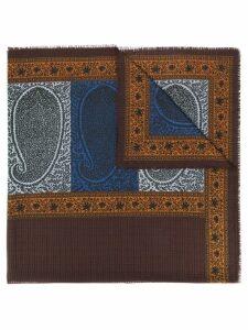 Yves Saint Laurent Pre-Owned paisley print scarf - Blue