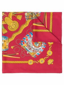 Hermès Pre-Owned Les Tambours scarf - Red