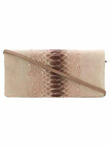 Maison Martin Margiela Pre-Owned snake effect clutch bag - Neutrals
