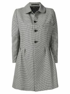 Comme Des Garçons Pre-Owned houndstooth check coat - Black