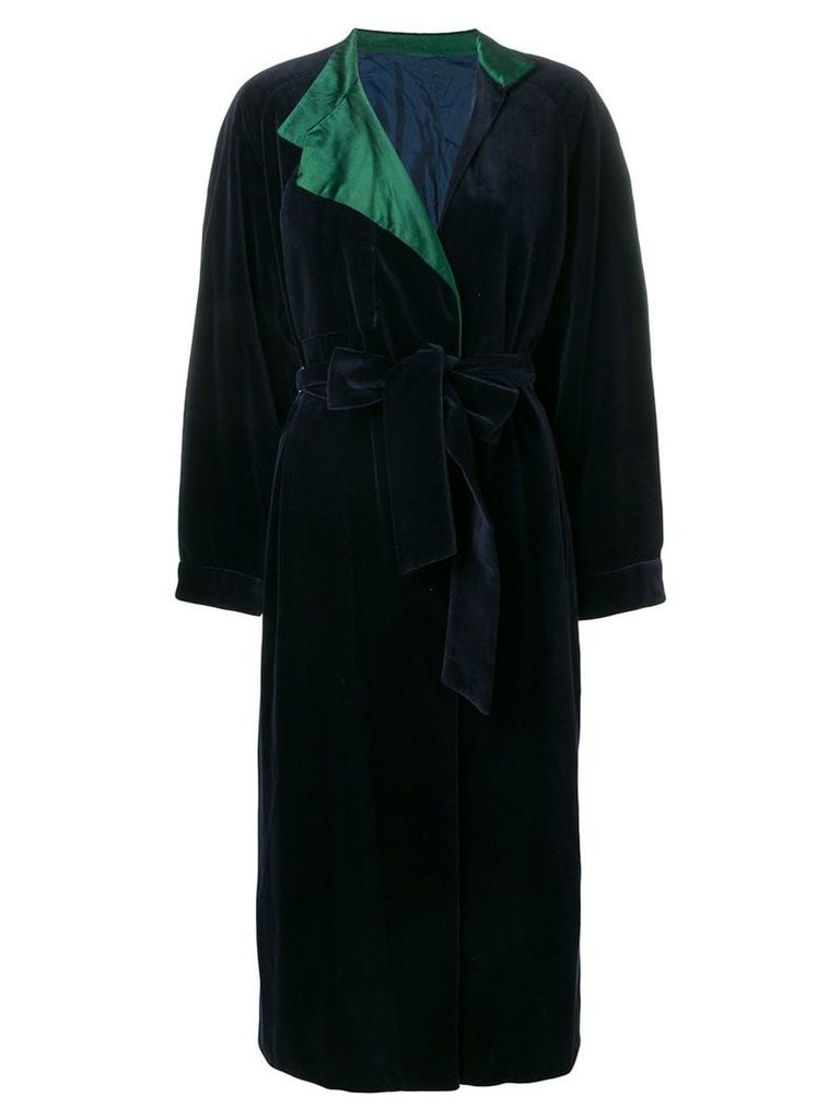 A.N.G.E.L.O. Vintage Cult 1980's tied long coat - Blue