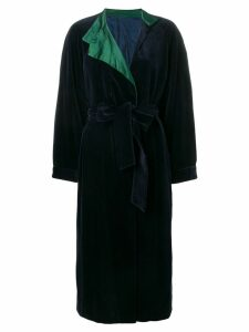 A.N.G.E.L.O. Vintage Cult 1980's tied long coat - Blue