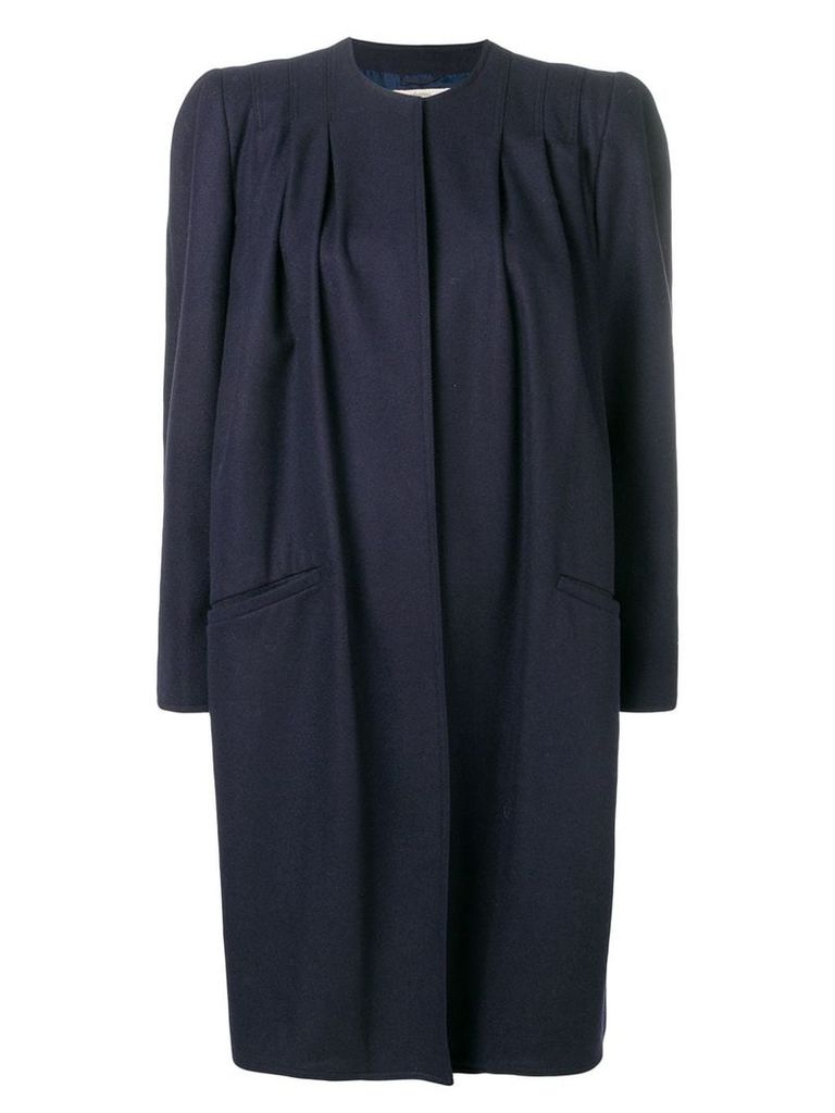 Valentino Vintage 1980's structured midi coat - Blue