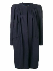 Valentino Pre-Owned 1980's structured midi coat - Blue