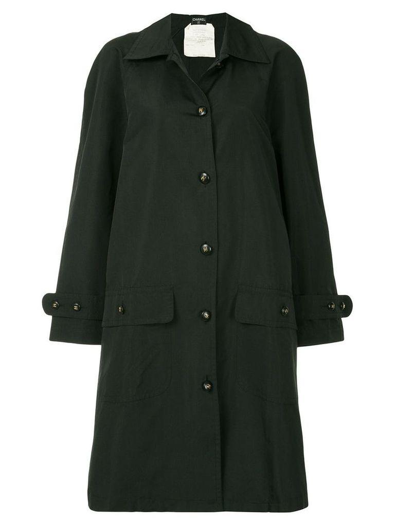 Chanel Vintage loose-fit trench jacket - Black