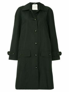 Chanel Pre-Owned loose-fit trench jacket - Black
