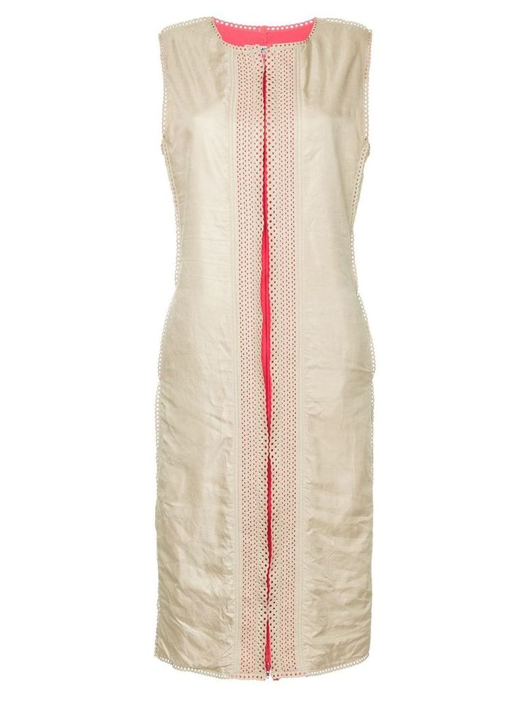 Issey Miyake Vintage trimming detail dress - White