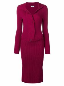 Moschino Pre-Owned 1990's belted knitted dress - Pink