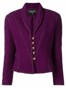 Chanel Pre-Owned tweed boucle jacket - Purple