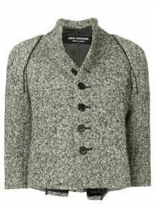 Junya Watanabe Comme des Garçons Pre-Owned belted poncho jacket - Grey