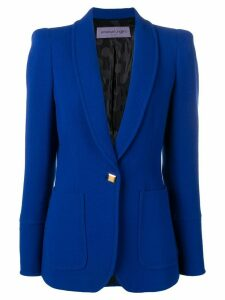 Emanuel Ungaro Pre-Owned structured shoulders blazer - Blue