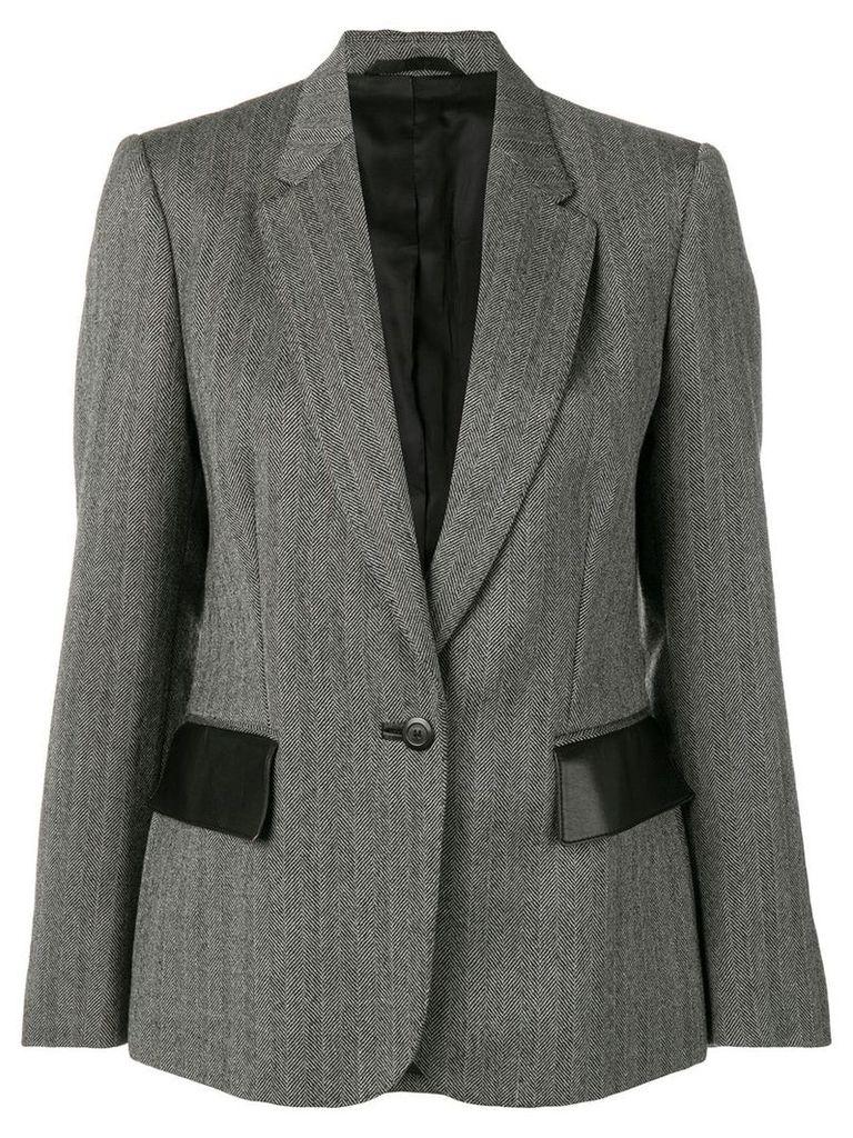 Gucci Vintage chevron pattern blazer - Grey