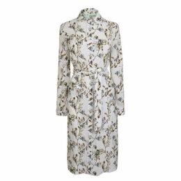 OFF WHITE Floral Shirt Dress