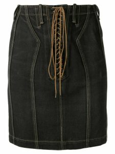 Alaïa Pre-Owned high-waist denim skirt - Black