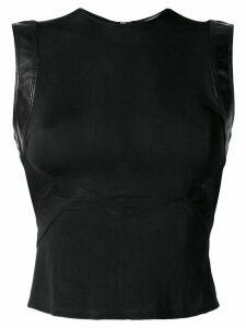 Versace Pre-Owned mesh panel top - Black