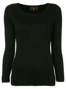 Fendi Pre-Owned logo-intarsia jumper - Black