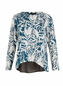 Womens *Tenki Teal Tropical Jumper- Teal, Teal