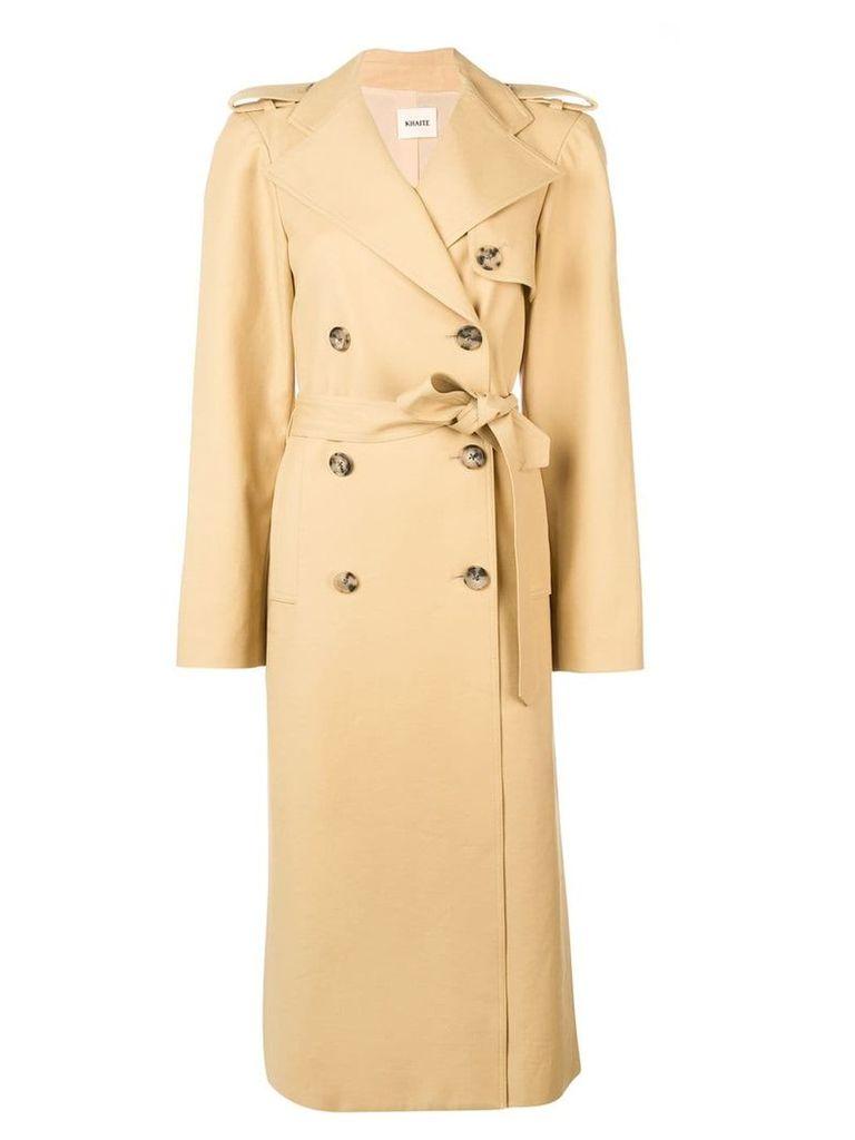 Khaite long trench coat - Neutrals