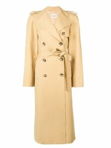 Khaite long trench coat - Neutrals