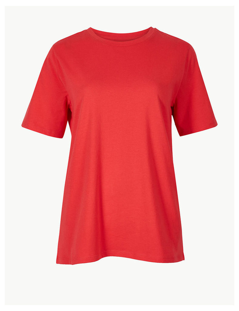 M&S Collection Pure Cotton Straight Fit T-Shirt