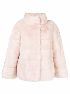 Liska tubular neck coat - PINK
