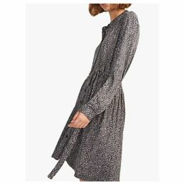 French Connection Brunella Leopard Print Shirt Dress, Neutral