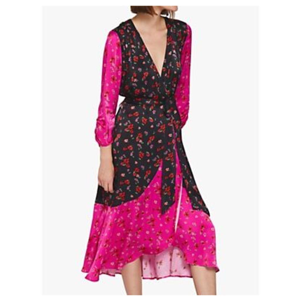 Ghost Chloe Dress, Pink/Black