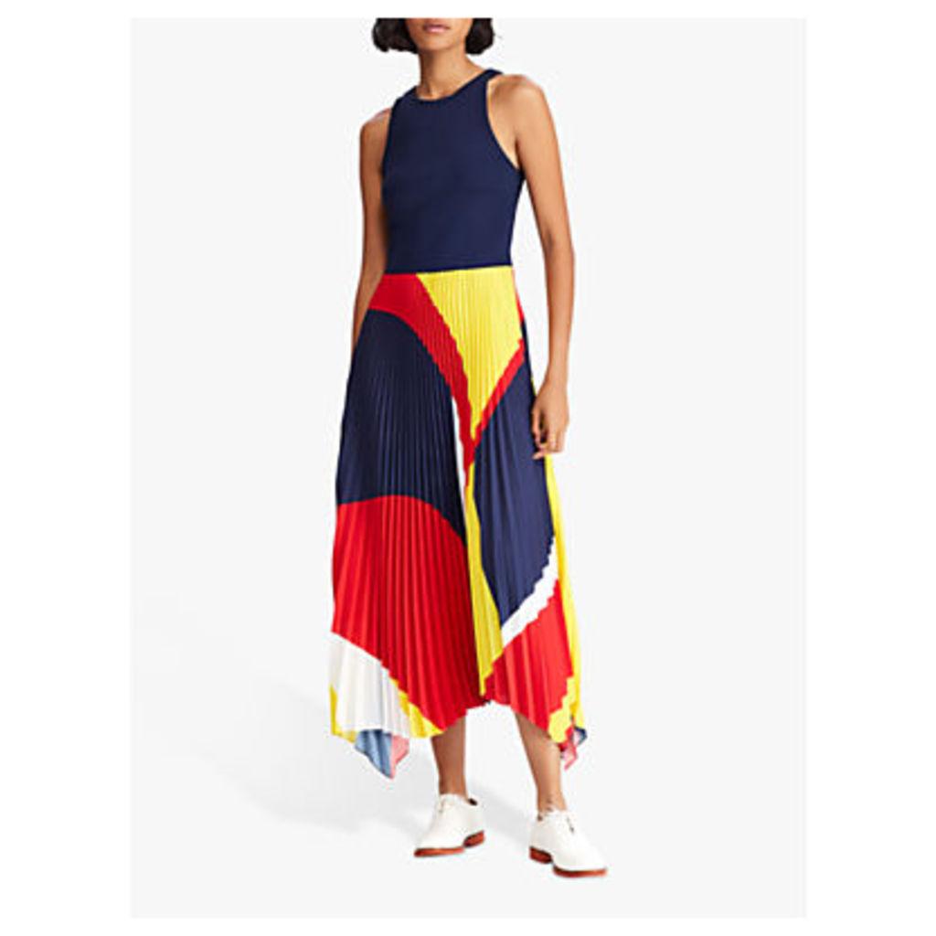 Polo Ralph Lauren Alyah Sleeveless Dress, Navy/Multi