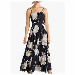 Yumi Floral Maxi Dress, Black