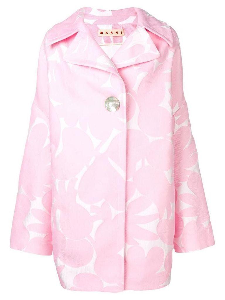 Marni floral print coat - Pink