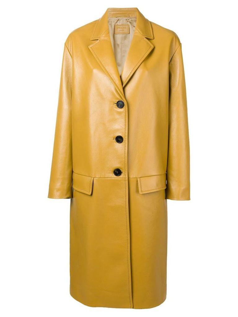 Prada single-breasted coat - Neutrals