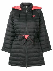 Emporio Armani padded single breasted coat - Black