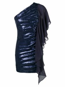 Just Cavalli one-shoulder sequinned dress - Blue