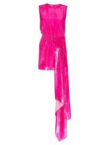Halpern Dropped waist hi-sheen mini dress - Pink