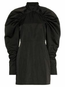 Rotate button neck detail mini dress - Black