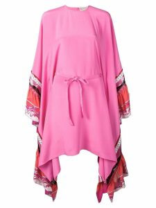 Emilio Pucci Embroidered Silk-Cady Kaftan Dress - Pink