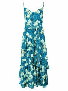 Borgo De Nor animal floral print dress - Blue