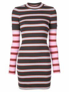 Cinq A Sept striped mini dress - Black